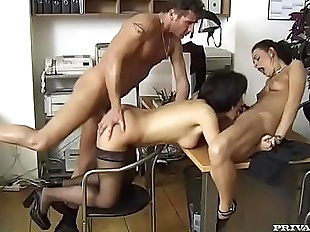 Gyongy and Michelle, Full Anal Service Secretaries
