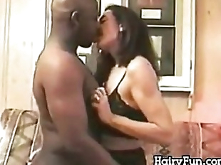 Hairy Mature Woman Enjoying His BBC